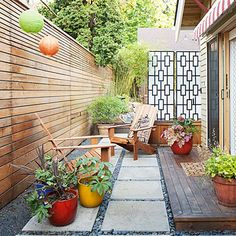 Small-space sitting room - Favorite Outdoor Furniture - Sunset. Would this work in the little side yard?