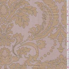 Pink Beige Silk Dupioni - Discount Fabrics