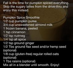 pumpkin smoothie, pumpkin pies