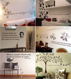 Decoração: Adesivos decorativos para parede em forma de texto - http://www.nomoredrama.com.br/decoracao-adesivos-decorativos-para-parede-em-forma-de-texto