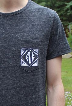 Mens Monogrammed Pocket  Tees make the PERFECT groomsmen gift!  Available at: www.rosa.gold