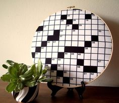 decor for the crossword puzzle junkie :)