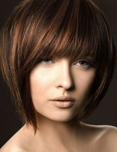 Shades of brown hair color with highlights