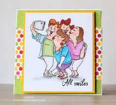 Art Impressions Rubber Stamps: Ai Girlfriends: Picture Perfect set ... handmade card.