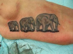 Elephants Family Tattoo love the meanings