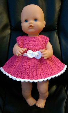Baby born crochet pink summer dress pattern.