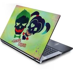 Joker and Harley Skull Print Laptop Skins ($30) ❤ liked on Polyvore featuring accessories and tech accessories