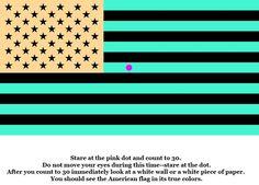 optical illusions brain teasers | US Flag Optical Illusion | Brain Teasers