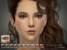 The Sims 4 : S-Club's WM thesims4 Eyebrows08 f @ The Sims Resource