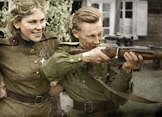 Senior Sergeant Roza Shanina was a sniper in the WWII Soviet Army, who volunteered for the military after the death of her brother in 1941. She chose to be a marksman on the front line and racked up at least 54 kills of German soldiers before her death from wounds at age 20. She served part of the time in an all-woman sniper unit. Before the war she worked as a kindergarten teacher.