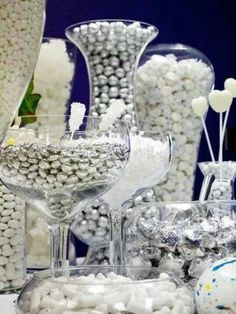 Silver & White Candy Buffet