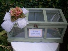Wedding Card Box / Large  Wooden card Box / Rustic Greenhouse  Wedding Card Holder Box /