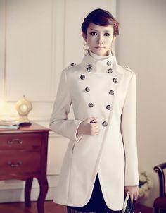 Napoleon military uniform double breasted winter coat