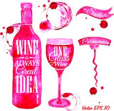 Wine creative design vector graphics 01