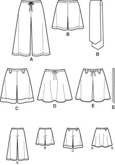 Kwik Sew Sewing Pattern 3384 Women's Xs-xl Pants Gaucho OOP ...