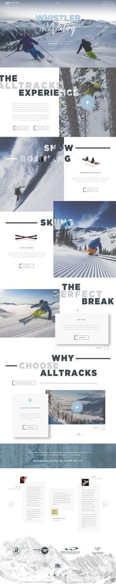 Alltracks by Craig Gittins #web #design #layout