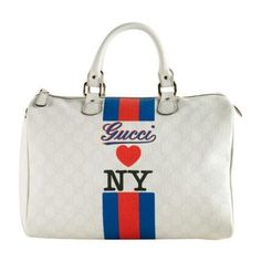 90fb7e6459aca This is an authentic GUCCI Loves New York Joy Medium Boston. This bag was  an exclusive to the Avenue NY store opening in February. Ronda Shinaver