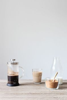 Making French-pressed coffee is a simple, minimalist way to get your coffee fix at home .