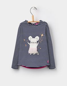 1b4dd65362f Ava luxe French Navy Mouse Applique Top 1-6yr