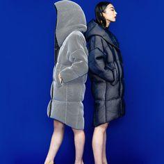 Freeshipping Lofty Runway Plus Size Grid Super Large Loose Casual Down Coat Female Winter Thicken Outwear Winter Jackets Women, Coats For Women, Womens Parka, Down Coat, Outerwear Women, Latest Fashion For Women, Winter Fashion, Brand Design, Clothes