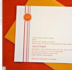 invitations - orange stripes