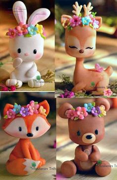 Got clay? Get creative with these 10 clever clay ideas! Polymer Clay Figures, Cute Polymer Clay, Polymer Clay Animals, Cute Clay, Polymer Clay Charms, Diy Clay, Clay Crafts, Diy And Crafts, Crafts For Kids
