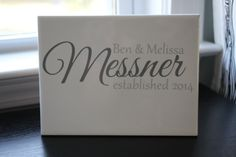 Last Name Wedding Sign, Newlyweds, Couple Gift, Wedding Date, Family Name, Anniversary Gift, Year Established, Wedding Gift, Shower Present