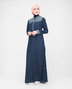 Casualness meets style in this denim Jilbab. With mid-front snap button opening, this versatile design is comfortable and suitable for breastfeeding. This Jilbab is a wardrobe essential for all you sisters seeking functionality and style all in one! Disney Wedding Dresses, Pakistani Wedding Dresses, Disney Dresses, Pakistani Outfits, Indian Dresses, Pakistani Clothing, Wedding Hijab, Muslim Brides, Muslim Women