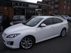White Mazda 6 car