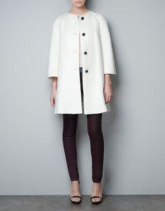 $169 #white FANTASY FABRIC COAT - Blazers - Woman - New collection - #ZARA
