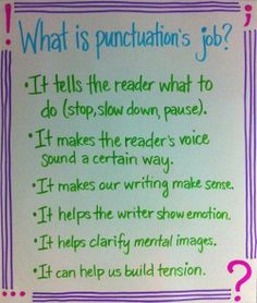 What is punctuation's job? #Cool