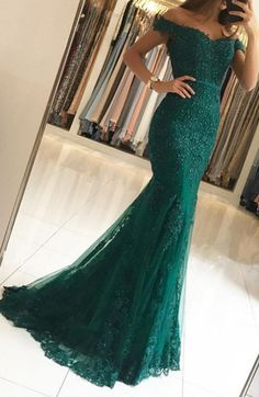 off the shoulder evening gowns,emerald green prom #prom #promdress #dress #eveningdress #evening #fashion #love #shopping #art #dress #women #mermaid #SEXY #SexyGirl #PromDresses