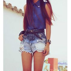 high top denim shorts - clothes casual - outfit for teens - movies - girls - women - outfit ideas :)