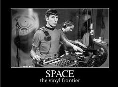 Trekkies! This one is for you -- Space, the Vinyl Frontier! #StarTrek #record #music #meme