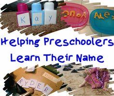Helping Preschoolers Learn Their Name