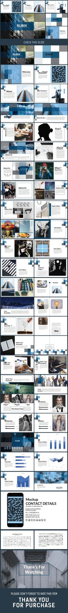 RUBIX - Presentation PowerPoint Template: