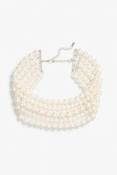 Pearl choker - Silvery metallic - Jewellery - Monki GB