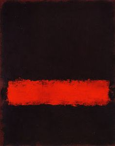 Next color. black and red. (^ー^)ノMark Rothko