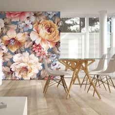 Couture Painterly Floral Mural | Graham & Brown UK