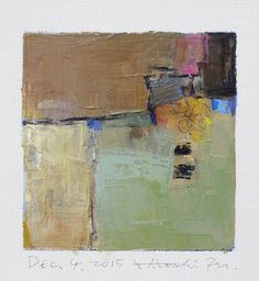 Dec. 4, 2015 - Original Abstract Oil Painting - 9x9 painting (9 x 9 cm - app. 4 x 4 inch) with 8 x 10 inch mat