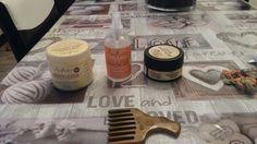 Voici les produit utilisé pour ces cheveux.