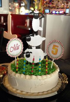 Shaun the Sheep Cake Topper, Party Decorations, Birthday Party, Lamb Party, 1st, 2nd, 5th Birthday, Shaun the Sheep Free Shipping.. $15.50, via Etsy.