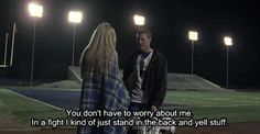 friday night lights I just kind of stand in the back and yell stuff. I just kind of stand in the back and yell stuff. Tv Show Quotes, Movie Quotes, Tim Riggins, Step Up Revolution, Chad Michael Murray, Friday Night Lights, Clear Eyes, Travel Humor, Music Tv