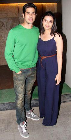 Sidharth Malhotra and Parineeti Chopra organized a special screening of their film Hasee Toh Phasee in Mumbai. #Style #Bollywood #Fashion #Beauty