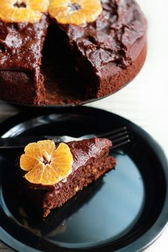 Chocolate Orange Cake with Rich Chocolate Frosting (vegan and gluten free)