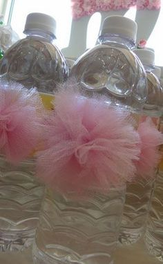 Click Pic for 28 Baby Shower Ideas for Girls - Pink TuTu Water Bottles | Baby Shower Themes for Girls #babyshowerthemes