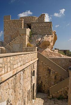 Fortress on Monte Altura in Palau, Sardinia http://de.wikipedia.org/wiki/Palau_%28Sardinien%29