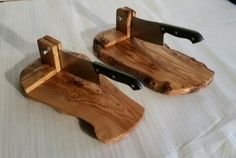 Olive wood biltong cutters unique style