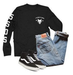 """Make it sound so sweet, when you lie to me"" by marleen03 ❤ liked on Polyvore featuring Levi's and Vans"