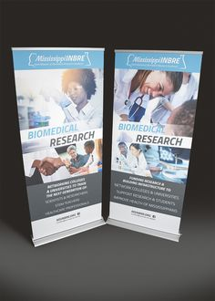 Mississippi INBRE pull-up banners. Designed by Liquid Creative.